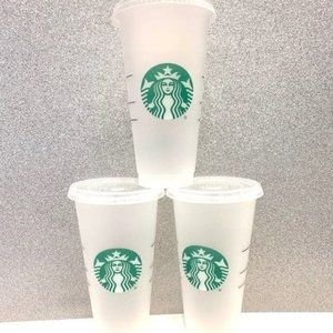 Starbucks reusable cold cups bundle of 3